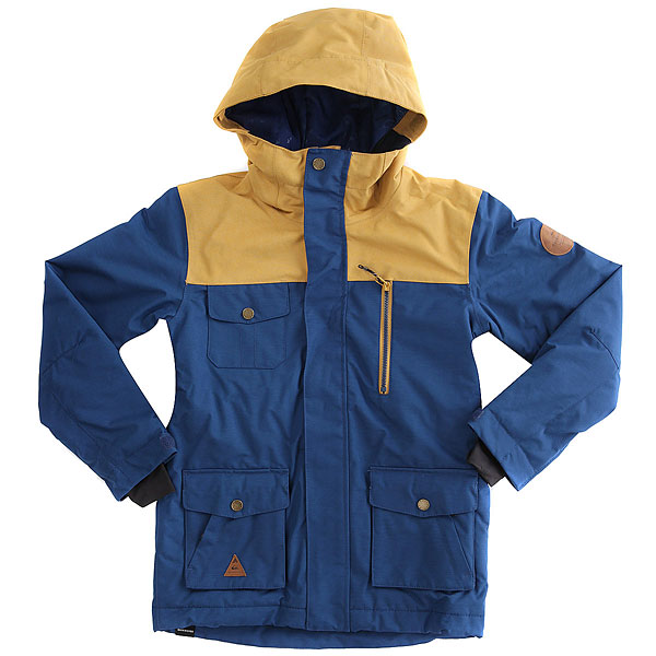 Куртка утепленная детская Quiksilver Raft Estate Blue куртка утепленная quiksilver quiksilver qu192emvod29