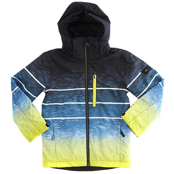 Куртка утепленная детская Quiksilver Missio En Sulphur Blur Lights
