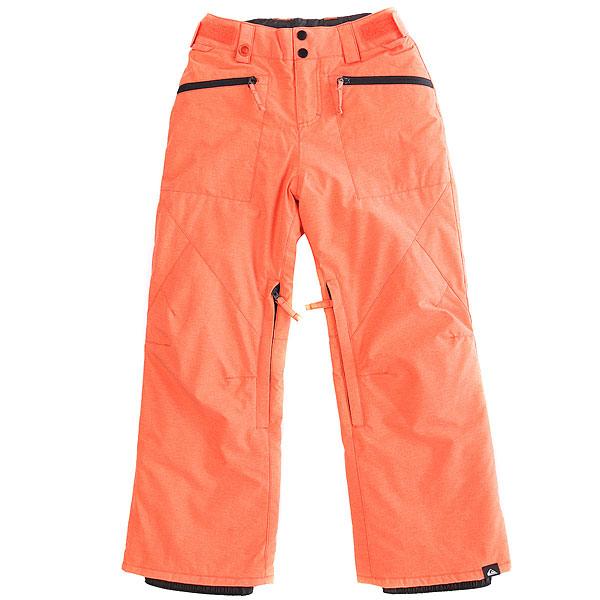 Штаны сноубордические детские Quiksilver Boundry Mandarin Red