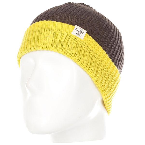 Шапка детская Herschel Youth Quartz Charcoal/Yellow<br><br>Цвет: Темно-серый,желтый<br>Тип: Шапка<br>Возраст: Детский