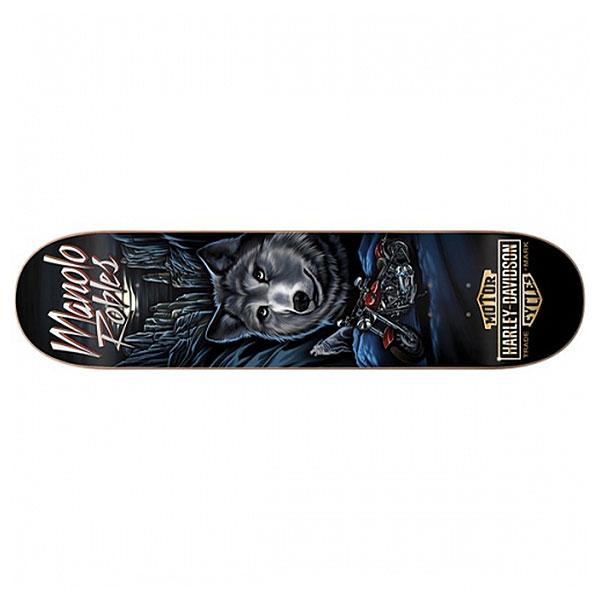Дека для скейтборда для скейтборда Darkstar Harley-davidson Vintage Decenzo 31.7 x 8.25 (21 см)Ширина деки: 8.25 (21 см)    Длина деки: 31.7 (80.5 см)    Количество слоев: 7<br><br>Цвет: черный,мультиколор<br>Тип: Дека для скейтборда<br>Возраст: Взрослый<br>Пол: Мужской