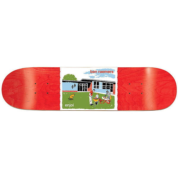 Дека для скейтборда для скейтборда Enjoi Raemers Dog Pooper Bbq 31.7 x 8 (20.3 см)Ширина деки: 8 (20.3 см)    Длина деки: 31.7 (80.5 см)    Количество слоев: 7<br><br>Цвет: мультиколор,красный<br>Тип: Дека для скейтборда<br>Возраст: Взрослый<br>Пол: Мужской