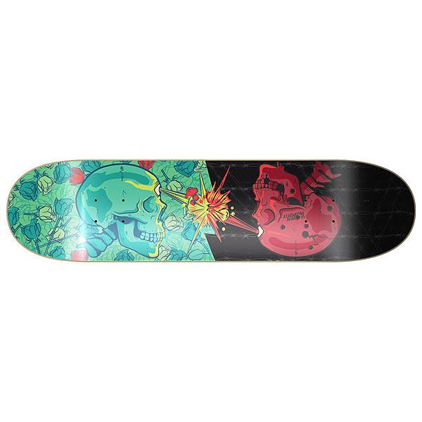 Дека для скейтборда для скейтборда Сквот Skulls Multicolor 8.125 (20.6 см)