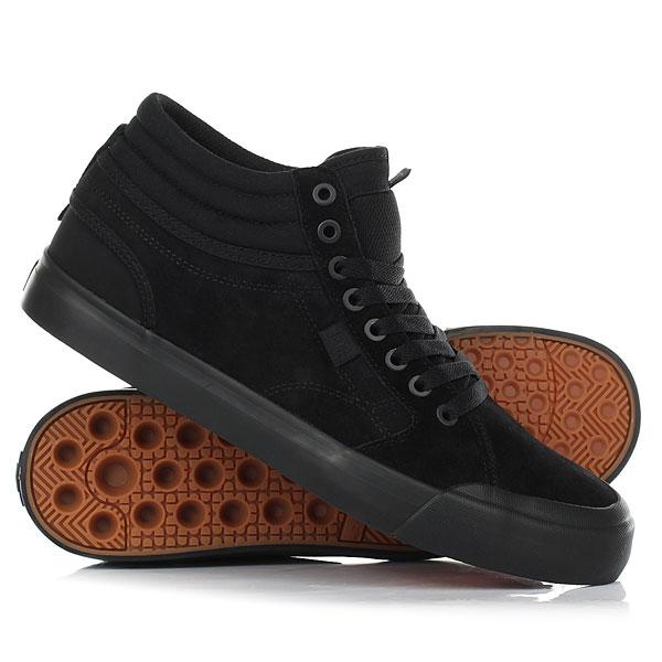 Кеды кроссовки высокие DC Evan Smith Hi Black кеды кроссовки высокие женские dc evan hi tx se denim