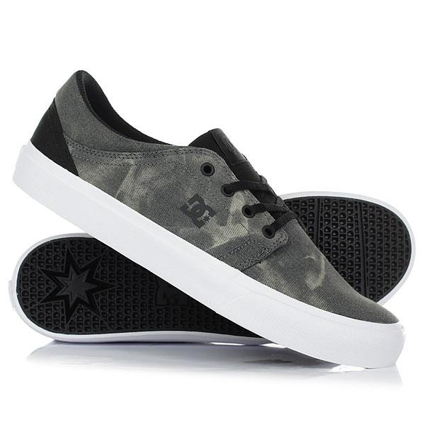 Кеды кроссовки низкие DC Trase Tx Se Black Destroy Wash dc shoes кеды dc heathrow se 11