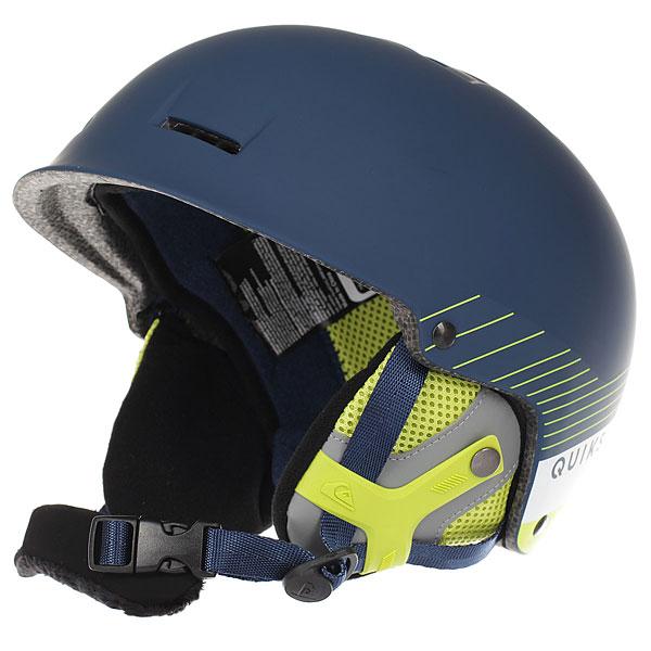 Шлем для сноуборда Quiksilver Fusion Estate BlueСовременный шлем с небольшим козырьком от Quiksilver - залог Вашей безопасности на склоне. Легкая, но очень прочная конструкция, комфортная и надежная, она будет держать Вас в тепле, предохраняя при этом от нежелательных воздействий. Quiksilver Fusion обладает всеми необходимыми опциями: съемные накладки на уши, пассивная вентиляция, подкладка из сетки и флиса, клипса для крепления маски - все это и много другое превращает неизбежную необходимость во вполне приятные и положительные эмоции.Характеристики:Шлем для занятий зимними видами спорта.Двойной микрошелл + сверхлегкая литая конструкция. Ударопоглощающий пенный полимер EPS. Фронтальная и верхняя пассивная вентиляция. Подкладка из сетки и флиса. Мягкие термоформованные съемные накладки на уши. Подбородочный ремень с мягкой флисовой подкладкой. Клипса для крепления ремня от маски. Принт с логотипом. Сертификация: EN1077.<br><br>Цвет: синий,желтый<br>Тип: Шлем для сноуборда<br>Возраст: Взрослый<br>Пол: Мужской