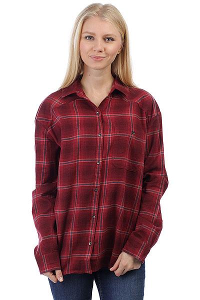 Рубашка в клетку женская Billabong Wander Warrior Mystic Maroon<br><br>Цвет: бордовый<br>Тип: Рубашка в клетку<br>Возраст: Взрослый<br>Пол: Женский