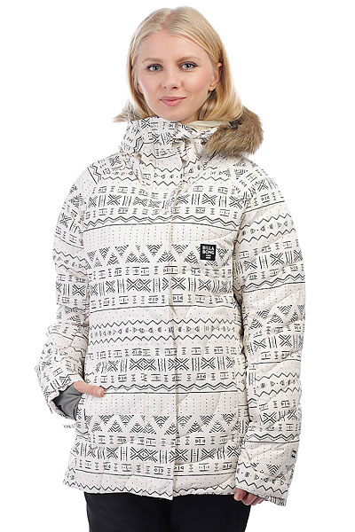 Куртка утепленная женская Billabong Soffya Wandering WhiteТрадиционный уличный стиль и современные технологичные решения крайне удачно сплелись в катальной куртке BILLABONG SOFFYA. Дышащая мембранная ткань в сочетании с снегозащитной юбкой и меховой кромкой капюшона создает надежный защитный барьер от талого снега и ветра. Функциональные карманы обеспечат быстрый доступ к самым необходимым на склоне вещам, а отличная посадка обеспечит правильный катальный внешний вид. Характеристики:Материал:2L Light Ripstop.Мембранная дышащая ткань с показателем 10000мм / 10000 г/м2.Синтетический утеплитель. Подкладка: тафта. Швы проклеены в стратегических местах. Регулируемый в двух направлениях капюшон. Приталенный удлиненный крой. Внутренний карман на молнии. Внутренний сетчатый карман для маски. Утягивающийся подол. Фиксированная снегозащитная юбка. Два кармана для рук на молнии. Регулируемые на липучке манжеты. Микрофлисовая отделка внутренней части воротника. Карман на молнии для ски-пасса на рукаве. Нашивка с фирменным логотипом на рукаве.<br><br>Цвет: бежевый,черный<br>Тип: Куртка утепленная<br>Возраст: Взрослый<br>Пол: Женский