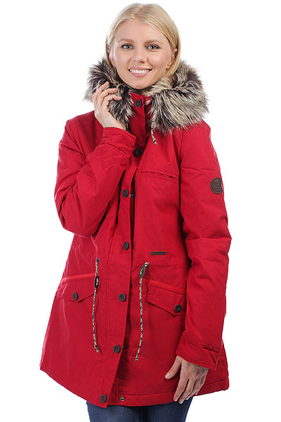 Куртка парка женская Billabong Warm Daze Chili PepperУтепленная хлопковая парка, готовая создать стильный силуэт и защитить от ветра и холода. Объемный капюшон с меховой отделкой добавит тепла, а сдержанный дизайн дополнен функциональными карманами. Billabong WARM DAZE - практичный и удобный городской вариант для холодных дней, вещь, в которой Вы всегда будете чувствовать себя комфортно. Характеристики:Стандартныйкрой. Двухпанельная подкладка: верх - искусственный мех, низ - стеганая подкладка. Регулируемая талия.Отделка капюшона искусственным мехом. Нагрудный карман. Два кармана для рук. Застежка на молнии с ветрозащитной планкой на пуговицах. Нашивка с фирменным логотипом.<br><br>Цвет: красный<br>Тип: Куртка парка<br>Возраст: Взрослый<br>Пол: Женский