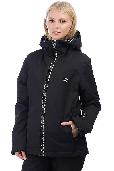 Куртка утепленная женская Billabong Terra BlackТеплая и удобная сноубордическая куртка с мембраной 10000 на 10000 и утеплителем плотностью 80 и 60 г, обладает полным комплектом фирменных атрибутов зимней куртки, такими как: снегозащитная юбка, большое количество карманов, манжеты из лайкры, которые дополнительно защищают от попадания снега и многие другие фирменные и обязательные фишки. Таким образом, куртка BILLABONG TERRA показывает отличное сочетание неброского стиля и отличного функционала.Характеристики:Крой:Tailored Fit. Материал:2L Twill. Мембранная дышащая ткань с показателем 10000 мм / 10000 г/м2.Утеплитель:Polyfill(80 г туловище, 60 г рукава). Подкладка из тафты.Проклеенные швы. Регулируемыйкапюшон. Внутренний карман.Внутренний сетчатый карман для маски. Утягивающийся подол.Фиксированная снегозащитная юбка. Два кармана для рук на молнии.Вентиляционные сетчатые карманы на молнии в подмышках. Регулируемые манжеты на липучках. Карман на молнии для ски-пасса на рукаве. Нашивка с фирменным логотипом.<br><br>Цвет: черный<br>Тип: Куртка утепленная<br>Возраст: Взрослый<br>Пол: Женский