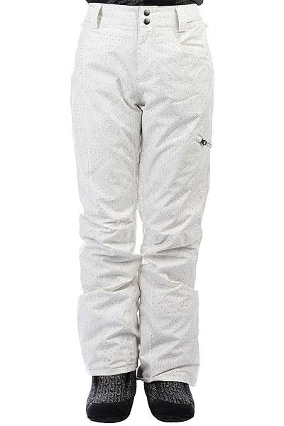 Штаны сноубордические женские Billabong Suka+ Cool WipГородской стиль в сноубордической одежде всегда будет актуален, именно поэтому подобные, зауженные модели еще долго не выйдут из моды. Что касается технологичности, то она - на высоте! Смотрите сами, мембрана 15000 на 15000, непромокаемый внешний материал, полностью проклеенные швы, гейтор для ботинок - все это, вкупе с возможностью пристегнуть штаны к Вашей куртке - дает сноубордические штаны с отличным дизайном и функционалом. Характеристики:Зауженный крой. Мембранная ткань 15000 г / 15000 мм. Теплая подкладка из тафты. Критически проклеенные швы.Эластичная регулировка пояса на липучках. Вентиляционные отверстия на молнии свнутренней стороны бедра с сетчатым материалом. Теплые карманы для рук.Карман на молнии на штанине. Задние карманы на кнопках. Снегозащитные гетры. Расширение к низу штанины накнопке.<br><br>Цвет: белый,серый<br>Тип: Штаны сноубордические<br>Возраст: Взрослый<br>Пол: Женский