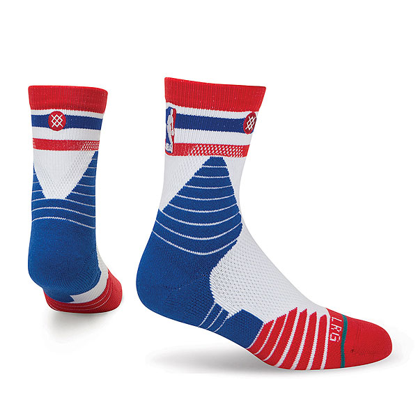 Носки средние Stance Nba Oncourt Qtr Thin Stripe Red