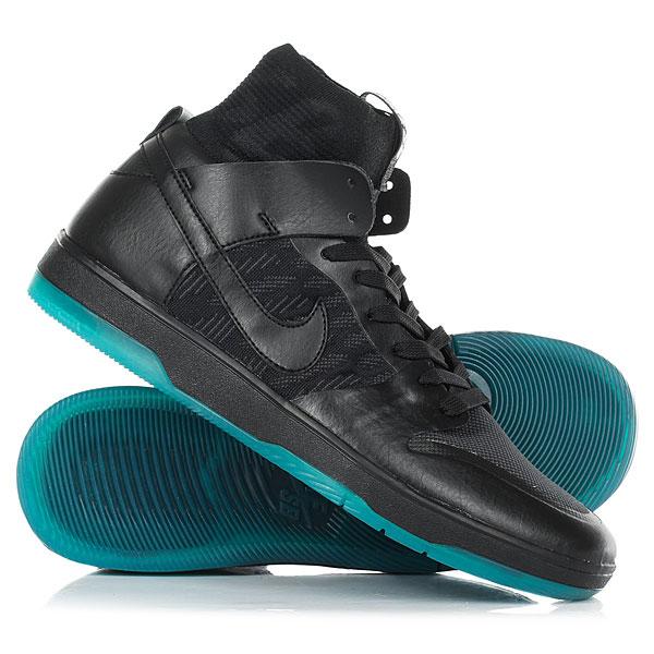 Кеды кроссовки высокие Nike Sb Zoom Dunk High Elite Black nike sb кеды nike sb zoom dunk low pro черный бледно зеленый белый 9 5