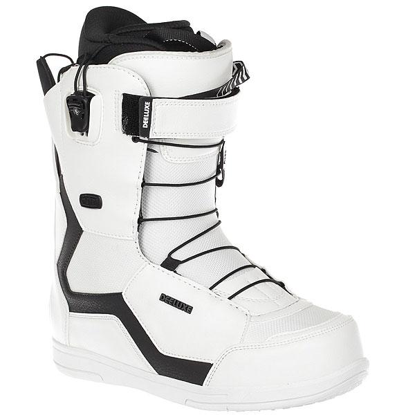 Ботинки для сноуборда Deeluxe 6.3 Pf fw18 whiteОдни из самых популярных ботинок Deeluxe в вневременном дизайне с современными технологиями. Запатентованная подошва D-Lug из пены Slytech One обеспечивает дополнительную амортизацию и теплоизоляцию.Технические характеристики: Хайбек Dupont® Surlyn гарантирует прочность и стабильность ботинка.Водонепроницаемая конструкция.Ремешок Powerstrap для дополнительной поддержки.Система шнуровки Section Control позволяет быстро и легко затянуть сразу три стратегические зоны, включая область пятки.Конструкция Pro Flex обеспечивает высокую производительность и гибкость.Вкладыш TPS позволяет регулировать жесткость ботинка от 5 до 7 (продается отдельно).Запатентованная подошва D-Lug разработана для лучшей амортизации и устойчивости, гасит вибрации.Разработка NASA - технология Thermo Block с отражающим тонким слоем алюминия обеспечивает ноги дополнительным теплом.<br><br>Цвет: белый<br>Тип: Ботинки для сноуборда<br>Возраст: Взрослый<br>Пол: Мужской