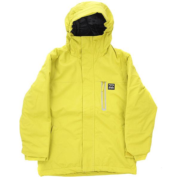Куртка утепленная детская Billabong All Day Solid YellowСноубордическая куртка с мембраной 10K и достаточным количеством утеплителя, чтобы Ваш ребенок мог успешно покорять снежные склоны. Высокий воротник с подкладкой из приятного плюшевого материала защитит горло от холодного ветра. Кроме того, Billabong позаботился не только о комфорте юных райдеров, но и о кошельке родителей. Благодаря технологии GroRoom, позволяющей увеличить длину рукавов на один размер, Ваш ребенок сможет наслаждаться катанием несколько сезонов подряд в полюбившейся куртке.Характеристики:Застёгивается на молнию. Материал:2L Dobby. Дышащая и влагостойкая мембрана 10 000 мм / 10 000 г. Утеплитель: polyfill 120 г / 100 г. Проклеенные критические швы. Удобный капюшон. Высокий воротник с мягкой плюшевой подкладкой. Снегозащитная юбка. Внешние карманы на молнии.Нагрудный карман на молнии. Карман в рукаве для ски-пасса.Регулируемые внешние манжеты (липучки). Внутренний сетчатый карман для маски. Технология GroRoom, позволяющая увеличить длину рукавов. Состав: 100% полиэстер.<br><br>Цвет: желтый<br>Тип: Куртка утепленная<br>Возраст: Детский