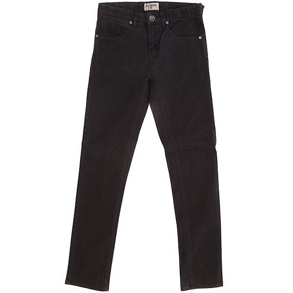 Джинсы прямые детские Billabong Outsider Twill Pant Black джинсы billabong джинсы slim outsider denim fw17