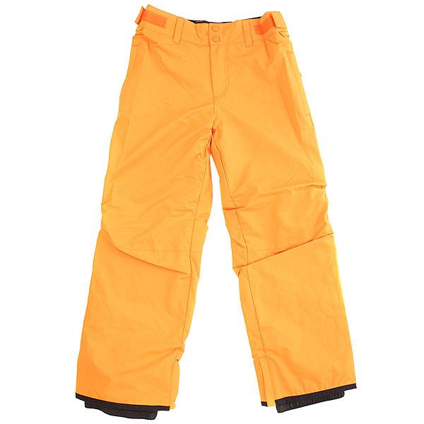 Штаны сноубордические детские Billabong Grom OrangeДетские сноубордические штаны с уникальной технологией GroRoom, позволяющей юным райдерам носить их не один сезон, так как брюки способны расти вместе с их обладателем. Кроме того, они оснащены высококачественным мембранным материалом, защищающим от промокания, и лёгким утеплителем Polyfill, прекрасно сохраняющим тепло. То, что нужно для комфортного катания в течение всего дня!Характеристики:Мембранная дышащая влагостойкая ткань 10k (10000 мм / 10000 г/м2). Утеплитель Polyfill 40 г. Подкладка из тафты с трикотажными панелями с начёсом. Классический крой. Технология GroRoom. Проклеенные критические швы. Регулируемый пояс на липучках. Петли для ремня. Низ штанин на кнопках с возможностью расширения. Усиленные кромки штанин.<br><br>Цвет: оранжевый<br>Тип: Штаны сноубордические<br>Возраст: Детский