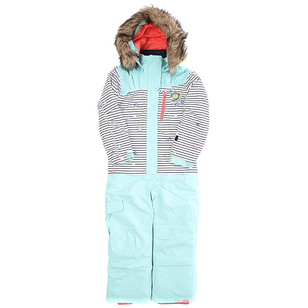 Комбинезон сноубордический Roxy Paradise Little Miss Bright White<br><br>Цвет: голубой<br>Тип: Комбинезон сноубордический<br>Возраст: Детский