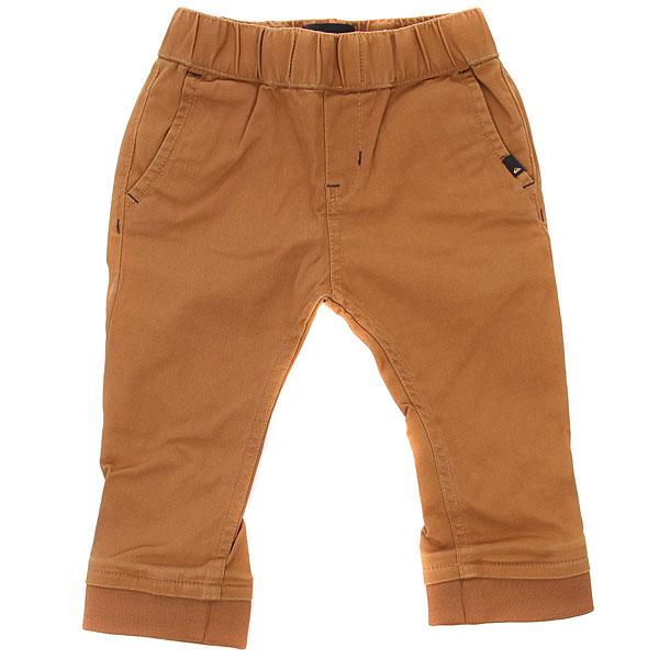 Штаны узкие детские Quiksilver Tapopantbaby Rubber<br><br>Цвет: коричневый<br>Тип: Штаны узкие<br>Возраст: Детский