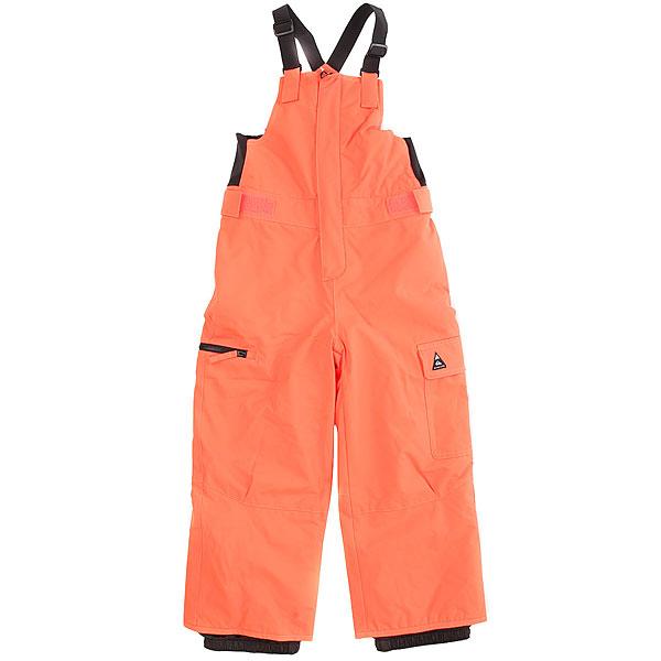 Штаны сноубордические Quiksilver Boogie Kids Shocking OrangeЕсли Вы по каким-то причинам выбираете не комбинезон, то штаны с высокой спинкой, нагрудником и эластичными лямками будут самым приближенным к нему вариантом. Теплые и удобные, эти Quiksilver Boogie прослужат Вашему ребенку не один сезон благодаря системе «на вырост» (брючины штанов с регулировкой длины растут вместе с ребенком). А еще у них хорошая мембранная ткань, легкий утеплитель, пояс с регулировкой размера и пара удобных карманов. Осталось только подобрать под них удобную куртку, и зима пролетит незаметно! Характеристики:Стандартный крой.Мембрана: водостойкая 10K Quiksilver DryFlight®.Материал: синтетический оксфорд. Утеплитель: наполнитель Warmflight® 200 г. Проклеенные в стратегических местах швы. Подкладка из тафты. С высокой спинкой и нагрудником. Эластичные регулируемые лямки. Пояс с регулировкой размера. Уплотненные края штанин.Система «на вырост» (брючины штанов с регулировкой длины растут вместе с ребенком!). Накладной карго-карман на левой штанине. Прорезной карман с доступом на молнии на правой штанине. Застегивается на молнию по всей длине.Эластичные вставки по бокам нагрудника для удобной регулировки размера.Снегозащитные гетры. Тканая этикетка с логотипом на левом кармане.Вышитый логотип сзади.<br><br>Цвет: оранжевый<br>Тип: Штаны сноубордические<br>Возраст: Детский