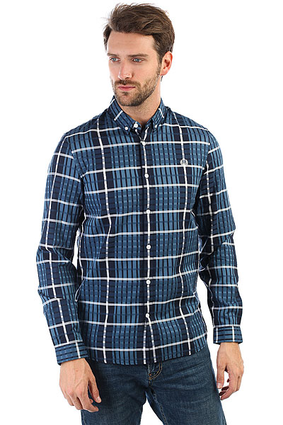 Рубашка в клетку Fred Perry Twill Check Shirt D58 поло детское fred perry my first fred perry shirt black