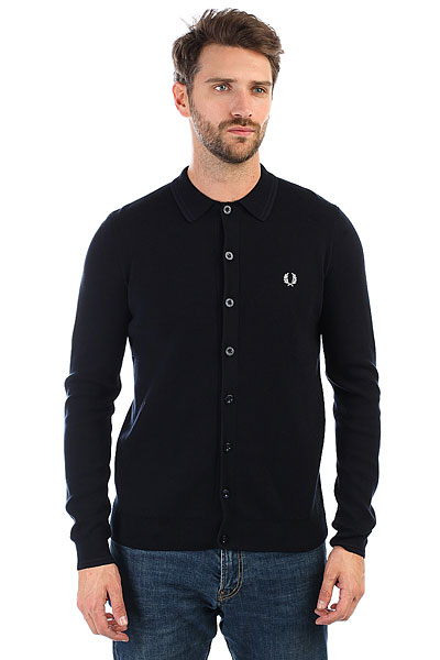 Кардиган Fred Perry Tonal Twin Tipped Cardigan Black fred perry ремень fred perry woven cord belt black