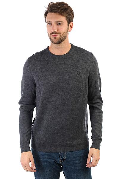 Свитер Fred Perry Classic Crew Neck Sweater Grey<br><br>Цвет: серый<br>Тип: Свитер<br>Возраст: Взрослый<br>Пол: Мужской