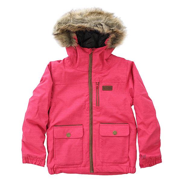 Куртка утепленная детская Rip Curl Fairy JazzyСтильная зимняя куртка Fairy для девочек на молнии, с капюшоном и искусственным мехом. Характеристики:Водонепроницаемый и ветрозащитный материал и 10K/10K мембрана, защищающая от холода, ветра и дождя, способствуют нормальному тепло- и влагообмену тела. Повышенная герметичность швов.Специальная система grow-up для рукавов предполагает дополнительные 2-3 см ткани, чтобы куртку можно было носить несколько лет. Молнии YKK. 4 внешних и 1 внутренний карман.<br><br>Цвет: розовый<br>Тип: Куртка утепленная<br>Возраст: Детский