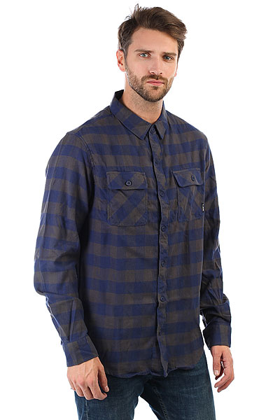 Рубашка в клетку Billabong All Day Flannel Ls Deep Blue рубашка billabong all day oxford ls sh