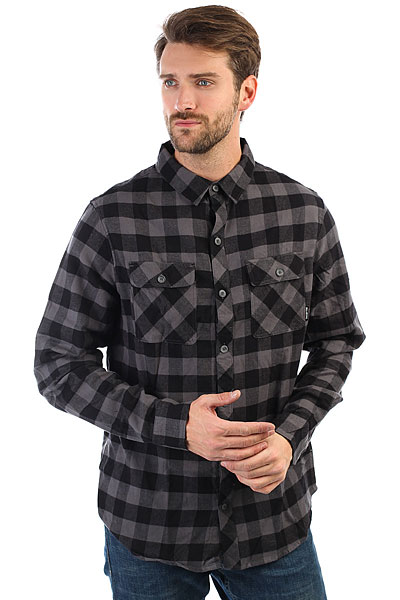 Рубашка в клетку Billabong All Day Flannel Ls Black рубашка billabong all day oxford ls sh