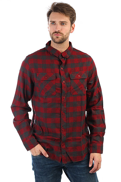 Рубашка в клетку Billabong All Day Flannel Ls Blood рубашка billabong all day oxford ls sh