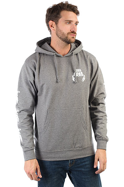 Толстовка кенгуру Crabgrab Claw Sleeves Hoody Heather Grey ellesse toppo overhead hoody athletic grey marl