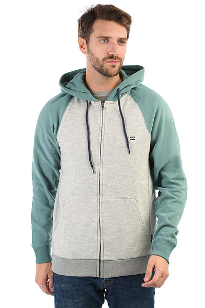 Толстовка кенгуру Billabong Balance Zip Up Oatmeal Heather