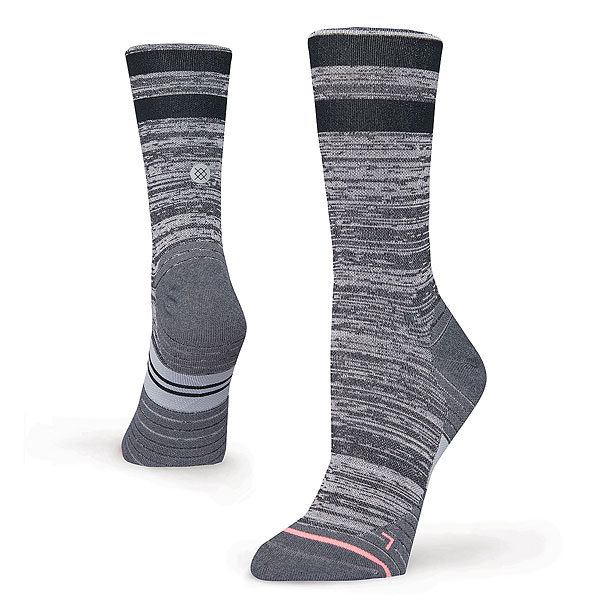 Носки высокие женские Stance Run Womens Uncommon Solid Run Crew Grey женские чулки no womens stockings