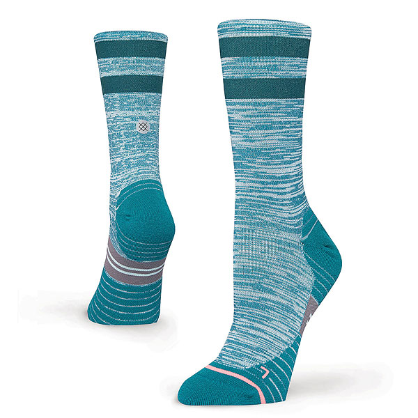 Носки высокие женские Stance Run Womens Uncommon Solid Run Crew Teal носки stance носки ж run womens speed of light ss17