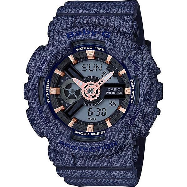 Кварцевые часы женские Casio G-Shock Baby-g ba-110de-2a1 Blue часы наручные casio часы baby g ba 120tr 7b