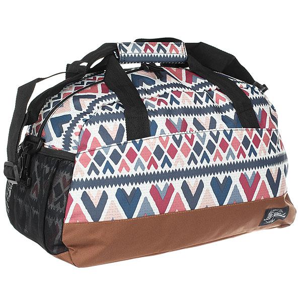 Сумка спортивная женская Rip Curl Navarro Gym Bag Cannoli CreamБольшая 21-литровая сумка для короткой поездки или занятий спортом.Характеристики:1 основное отделение. Большая застежка на молнии. 1 сетчатый боковой карман. Внутренний карман на липучке и регулируемый плечевой ремень.<br><br>Цвет: мультиколор,коричневый<br>Тип: Сумка спортивная<br>Возраст: Взрослый<br>Пол: Женский