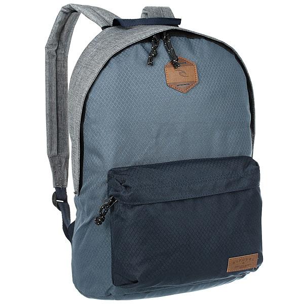 Рюкзак городской Rip Curl Dome Stacka NavyБазовый рюкзак для повседневного использования с большим основным отделением и передним карманом на молнии.Технические характеристики: Большое основное отделение.Передний карман на молнии.Мягкие и регулируемые плечевые ремни.Нашивка с логотипом.<br><br>Цвет: синий,серый<br>Тип: Рюкзак городской<br>Возраст: Взрослый