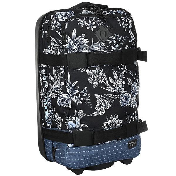 Сумка дорожная женская Rip Curl Zephyr Transit BlackГибкая и прочная, максимально облегченная сумка для путешествий.Технические характеристики: Вес - 2,4 кг.Одно отделение с отсеками для вещей.Формованная спинка из полимера EVA.Передний карман на молнии.Телескопическая ручка.Мягкие ручки для переноски.Компрессионные ремни.Сильные и прочные скейтовые колеса In-Line.Возможно заблокировать молнию замком.Нашивка с логотипом.<br><br>Цвет: черный,мультиколор<br>Тип: Сумка дорожная<br>Возраст: Взрослый<br>Пол: Женский