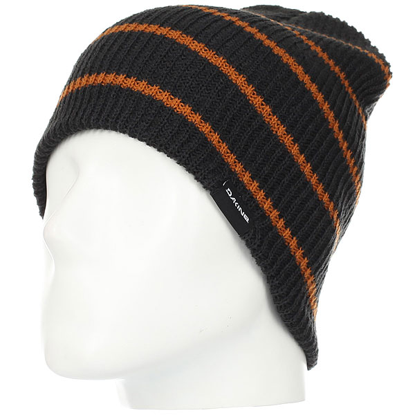 Шапка Dakine Tall Boy Stripe Black/Ginger manitobah унты tall grain mukluk женск 11 black черный
