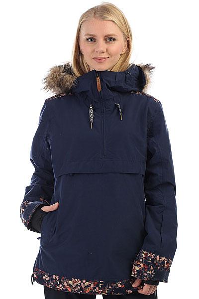 Куртка утепленная женская Roxy Shelter PeacoatЯркий дизайн, лаконичный крой и отличный функционал - именно эти составляющие делают куртку-анорак ROXY SHELTER отличным выбором для того, чтобы проводить с комфортом дни на склоне. Влагостойкая мембрана 10K ROXY DryFlight® защитит от снега и ветра, а удобные карманы позволят всегда держать под рукой самые необходимые мелочи, такие как ски-пасс, любимую музыку и смартфон. Приятным бонусом станет особая обработка внутренней части ворота Enjoy &amp; Care - это специальное косметическое средство, помещенное в структуру волокон ткани, которое увлажняет Вашу кожу, пока Вы катаетесь.Характеристики:Приталенный крой(tailored).Мембрана:водостойкая 10K ROXY DryFlight®.Утеплитель Thinsulate™ Type M (тело — 60 г, рукава и капюшон — 40 г). Подкладка из тафты с трикотажными ворсистыми вставками. Полностью проклеенные швы. ROXY X Biotherm® Enjoy &amp; Care: внутренняя часть воротника обработана специальным косметическим составом, который ухаживает и увлажняет кожу (вещество выдерживает до 15 стирок при температуре до 40С).Снегозащитная юбка из тафты, застегивается на кнопки. Система пристегивания куртки к штанам. Мягкая защита подбородка. Карабин для ключей. Капюшон с тремя регулировками (не отстегивается). Внутренний медиакарман. Карман для скипасса на рукаве на молнии. Вентиляционные сетчатые карманы подмышками на молнии. Внутренние эластичные манжеты из лайкры с отверстием для большого пальца.<br><br>Цвет: Темно-синий<br>Тип: Куртка утепленная<br>Возраст: Взрослый<br>Пол: Женский