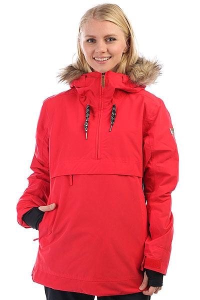 Куртка утепленная женская Roxy Shelter LollipopЯркий дизайн, лаконичный крой и отличный функционал - именно эти составляющие делают куртку-анорак ROXY SHELTER отличным выбором для того, чтобы проводить с комфортом дни на склоне. Влагостойкая мембрана 10K ROXY DryFlight® защитит от снега и ветра, а удобные карманы позволят всегда держать под рукой самые необходимые мелочи, такие как ски-пасс, любимую музыку и смартфон. Приятным бонусом станет особая обработка внутренней части ворота Enjoy &amp; Care - это специальное косметическое средство, помещенное в структуру волокон ткани, которое увлажняет Вашу кожу, пока Вы катаетесь.Характеристики:Приталенный крой(tailored).Мембрана:водостойкая 10K ROXY DryFlight®.Утеплитель Thinsulate™ Type M (тело — 60 г, рукава и капюшон — 40 г). Подкладка из тафты с трикотажными ворсистыми вставками. Полностью проклеенные швы. ROXY X Biotherm® Enjoy &amp; Care: внутренняя часть воротника обработана специальным косметическим составом, который ухаживает и увлажняет кожу (вещество выдерживает до 15 стирок при температуре до 40С).Снегозащитная юбка из тафты, застегивается на кнопки. Система пристегивания куртки к штанам. Мягкая защита подбородка. Карабин для ключей. Капюшон с тремя регулировками (не отстегивается). Внутренний медиакарман. Карман для скипасса на рукаве на молнии. Вентиляционные сетчатые карманы подмышками на молнии. Внутренние эластичные манжеты из лайкры с отверстием для большого пальца.<br><br>Цвет: красный<br>Тип: Куртка утепленная<br>Возраст: Взрослый<br>Пол: Женский
