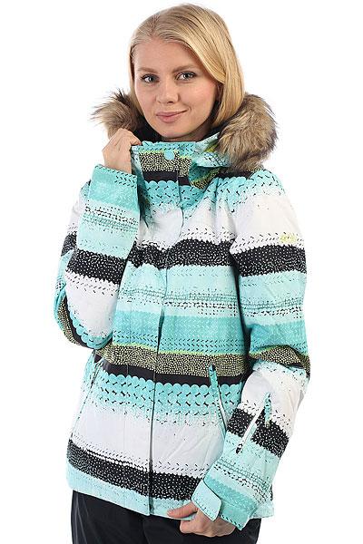 Куртка утепленная женская Roxy Jet Ski Aruba Blue LizzydotsСпециальный выпуск куртки Roxy Jet Ski в этом сезоне состоит из премиум-расцветок, которых нет в основной версии. Так что если Вы не хотите постоянно видеть на склоне своих клонов, выбирайте SE, и вероятность этого сразу же станет значительно меньше.Короткая и стильная, яркая и теплая - это Roxy Jet Ski, в которой Вам будет удобно как на склоне, так и на улицах города. Зауженный крой не стесняет движений и при этом отлично смотрится, мембранная ткань быстро отводит лишнюю влагу, и не пускает ее снаружи, легкий современный утеплитель Warmflight® не позволит холоду застать Вас врасплох, а юбка для защиты от снега и объемный отстегивающийся капюшон с меховой оторочкой (а также масса других дополнительных опций) сделают Вашу жизнь зимой еще позитивнее.Характеристики:Зауженный крой Slim. Мембрана: водостойкая 10K ROXY DryFlight®.Материал: саржа из полиэстера. Подкладка из тафты и со вставками из трикотажа с начесом. Утеплитель: наполнитель Warmflight® (тело — 120 г, рукава — 100 г, капюшон — 60 г). Мягкая защита подбородка. Объемный отстегивающийся капюшон с тремя вариантами регулировки и съемной оторочкой из искусственного меха. Проклеенные в критических местах швы. Юбка для защиты от снега. Карабин для ключей. Система пристегивания штанов к куртке. Застегивается на молнию по всей длине. Два кармана для рук с доступом на молнии. Внутренний медиа-карман. Сетчатый карман для маски. Карман на рукаве для ски-паса.Регулируемые манжеты. Вентиляция подмышками. Гейтеры из лайкры + небольшая удобная вставка в манжете.<br><br>Цвет: белый,Светло-зеленый<br>Тип: Куртка утепленная<br>Возраст: Взрослый<br>Пол: Женский