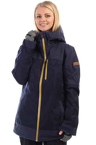 Куртка утепленная женская женская Roxy Stormfall PeacoatМодель из коллекции Torah Bright, про-райдера команды Roxy. Torah постаралась сделать вещи из своей коллекции функциональными, стильными и комфортными. Удлиненная теплая куртка Stormfall - стильная и удобная. Воротник куртки сделан из косметотекстиля ENJOY &amp; CARE, который заботится о вашей коже в условиях холодного ветра и мороза. Влагостойкая мембранная ткань Roxy DryFlight 15К 15 000мм/15 000 г/м2 надежно защитит от ветра и снега, утеплитель: PrimaLoft® Gold Insulation Luxe не позволит вам замерзнуть. Снегозащитная юбка, полностью проклеенные швы, функциональные карманы, вентиляция и эластичные манжеты на рукавах помогут с комфортом провести на склоне весь день.Характеристики:Мембранная ткань Roxy DryFlight 15К 15000мм/15 000 г/м2 защитит от ветра и снега. Утеплитель PrimaLoft® Gold Insulation Luxe: 175 г. тело и наполнитель Black Insulation Eco 60 г. рукава. Крой Tailored long: удлиненный и приталенный. Вентиляционные отверстия с сеткой, застегиваются на молнию.Подкладка из сверхлегкой тафты из переработанного полиэстера и трикотажа с начёсом.Швы полностью проклеены. Фиксированная, эластичная снегозащитная юбка, застегивается на кнопки. Капюшон с тремя способами регулировки. Капюшон не отстегивается. Высокий воротник с мягкой подкладкой для защиты подбородка.Система присоединения куртки к брюкам. Водонепроницаемая молния YKK® Aquaguard®.Внутренние манжеты из лайкры с удобной системой утепления пальцев.Воротник из косметотекстиля ENJOY &amp; CARE: забота о вашей коже от компании Biotherm. Остается эффективным до 15 стирок. Внутренний карман для маски.Медиа-карман с отверстием для наушников. Кармашки для ски-пасса на рукаве и на груди, застегиваются на молнию. Карабин для ключей.<br><br>Цвет: Темно-синий<br>Тип: Куртка утепленная<br>Возраст: Взрослый<br>Пол: Женский