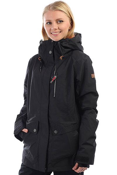 Куртка утепленная женская Roxy Andie True BlackФункциональная куртка для катания от Roxy готова к любым погодным неожиданностям, ведь в ней предусмотрено все, чтобы Вы оставались в тепле и комфорте. Современный утеплитель Thinsulate™, распределенный по всей куртке, мембранная ткань, отводящая лишнюю влагу с Вашего тела, проклеенные швы и юбка для защиты от снега. А еще множество карманов, вентиляция с сетчатыми вставками, регулируемые манжеты и объемные капюшон. Наверняка, Вы давно хотели что-то подобное, так что Roxy в очередной раз идет навстречу Вашим пожеланиям. Характеристики:Приталенный крой.Мембрана ROXY DryFlight® 10K. Материал: синтетика из переработанного полиэстера. Утеплитель: наполнитель Thinsulate™ Type M 80 г (тело) + 40 г (рукава и капюшон). Подкладка: легкая тафта из переработанного полиэстера + фактурная тафта и трикотаж с начесом. Проклеенные в стратегических местах швы. Объемный капюшон со шнурком-утяжкой. Юбка для защиты от снега. Система пристегивания куртки к штанам.Два кармана для рук. Нагрудный карман с доступом на молнии. Карман на рукаве для ски-паса. Карман для маски. Вентиляция с сетчатыми вставками подмышками. Гейтеры из лайкры с отверстиями для больших пальцев. Регулируемые манжеты. Карабин для ключей. Кожаная нашивка с логотипом на левом рукаве.<br><br>Цвет: черный<br>Тип: Куртка утепленная<br>Возраст: Взрослый<br>Пол: Женский