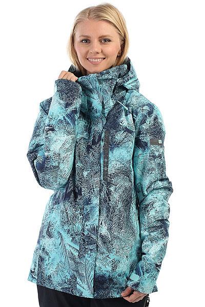 Куртка утепленная женская Roxy Wilder Print Aruba Blue FreezefogЭта куртка создана для девушек, которым важен максимальный функционал на склоне и гарантия комфорта даже в самую непредсказуемую погоду. Куртка Roxy Wilder выполнена из дышащей влагостойкой мембраныGORE-TEX® 2L, дополненной утеплителем PrimaLoft® Black, что означает гарантированную защищенностью от ветра и слякоти. А снегозащитная юбка, эластичные манжеты, высокий ворот и капюшон, совместимый со шлемом защитят от попадания снега под одежду и позволят наслаждаться катанием, забыв о возможных неприятностях, связанных с холодом. Характеристики:Приталенный крой tailored. Мембранная дышащая двухслойная ткань GORE-TEX® 2L. Утеплитель: PrimaLoft® Black Insulation Eco (80 г). Подкладка: сверхлегкая тафта и трикотаж с начесом.Регулировка капюшона в трех направлениях. Съемный капюшон с козырьком.Капюшон совместим со шлемом. Защита подбородка. Снегозащитная юбка. Система крепления куртки к штанам. Отделка внутренней части воротника для защиты подбородка. Карманы для рук на молнии. Влагостойкая молнияYKK®.Карман для ски-пасса на молнии на рукаве. Дополнительные эластичные манжеты с отверстием для большого пальца. Регулировка манжет на липучке.Нагрудный карман на молнии. Внутренний карман для маски. Внутренний медиакарман. Сетчатые карманы для вентиляции подмышками. Утеплитель для шеи ENJOY &amp; CARE. Карабин для ключей. Ткань для протирки оптики. Состав: 100% полиэстер.<br><br>Цвет: голубой,черный<br>Тип: Куртка утепленная<br>Возраст: Взрослый<br>Пол: Женский