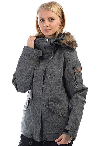 Куртка утепленная женская Roxy Grove Herringbone Grey