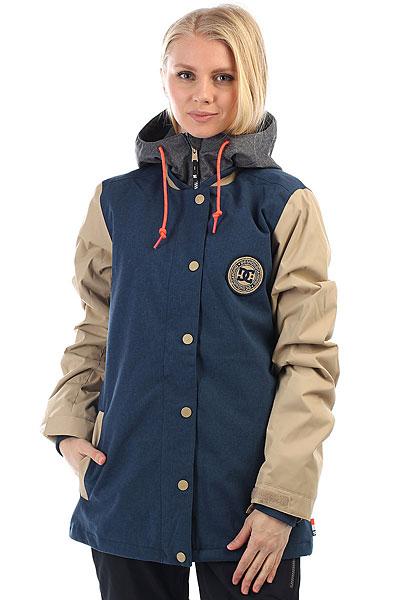 Куртка утепленная женская DC Dcla Insignia BlueСноубордические куртки, выполненные в стиле студенческого бомбера давно пользуются популярностью у райдеров любого пола и возраста. В этом году DC слегка изменила дизайн своей модели DCLA, придав ей новый неповторимый стиль. В остальном же - это так полюбившаяся всем куртка, которая отлично подойдет для любых условий катания.Характеристики:Влагостойкая ткань10K DC Weather Defense.Утеплитель: 80 гр туловище, 40 гр рукава. Подкладка: тафта. Стандартный крой. Проклеенные швы. Сетчатые отсекидля вентиляции. Снегозащитная юбка.Капюшон с 3 вариантами регулировки. Внутренние манжеты из лайкры.Регулируемые манжеты на липучке. Карман на молнии на рукаве для ски-пасса.Два кармана для рук на молнии. Внутренний сетчатый карман. Внутренний карман на липучке. Медиа-карман.<br><br>Цвет: синий,Светло-коричневый<br>Тип: Куртка утепленная<br>Возраст: Взрослый<br>Пол: Женский