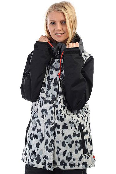 Куртка утепленная женская DC Dcla Snow LeopardСноубордические куртки, выполненные в стиле студенческого бомбера давно пользуются популярностью у райдеров любого пола и возраста. В этом году DC слегка изменила дизайн своей модели DCLA, придав ей новый неповторимый стиль. В остальном же - это так полюбившаяся всем куртка, которая отлично подойдет для любых условий катания.Характеристики:Влагостойкая ткань10K DC Weather Defense.Утеплитель: 80 гр туловище, 40 гр рукава. Подкладка: тафта. Стандартный крой. Проклеенные швы. Сетчатые отсекидля вентиляции. Снегозащитная юбка.Капюшон с 3 вариантами регулировки. Внутренние манжеты из лайкры.Регулируемые манжеты на липучке. Карман на молнии на рукаве для ски-пасса.Два кармана для рук на молнии. Внутренний сетчатый карман. Внутренний карман на липучке. Медиа-карман.<br><br>Цвет: черный,белый<br>Тип: Куртка утепленная<br>Возраст: Взрослый<br>Пол: Женский