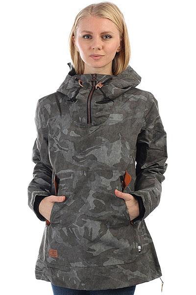 Анорак сноубордический женский DC Skyline British Camo Green куртки dc shoes куртка